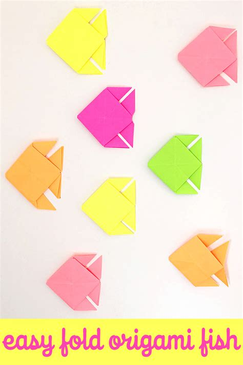 Simple Fish Origami - origami fish easy folding childhood101