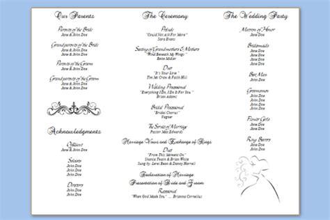 free tri fold wedding program templates awesome how to create a