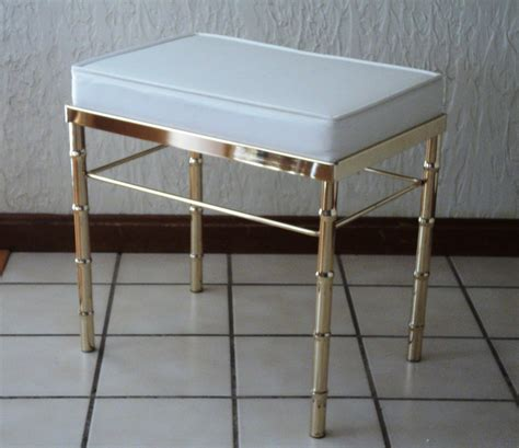 brass vanity bench faux bamboo brass vanity stool julesmoderne com