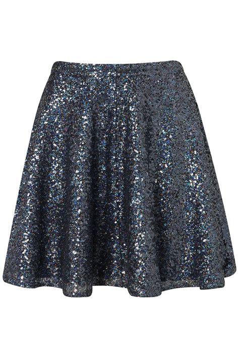 blue sequin skirt dress