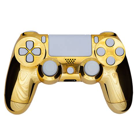 ps4 controller solid white light playstation dualshock 4 custom controller chrome gold