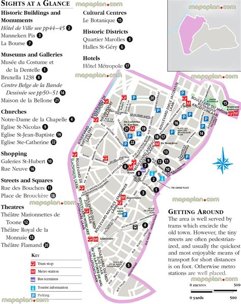 brussels map brussels belgium lower town city center