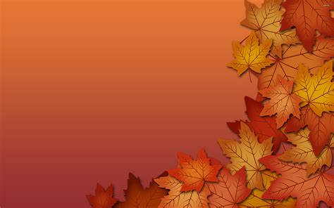 colorful thanksgiving wallpaper fall leaves background powerpoint backgrounds for free