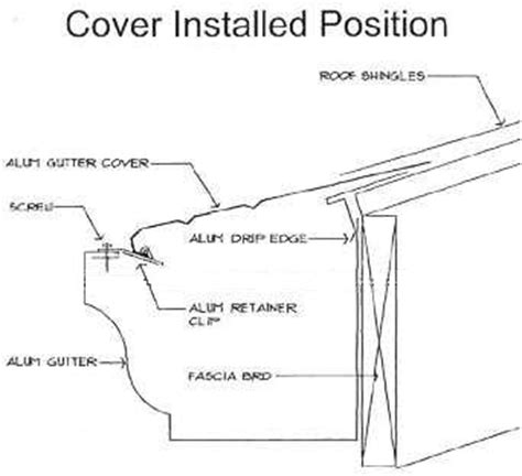 gutter section detail twin cities seamless gutter delivery leaf covers
