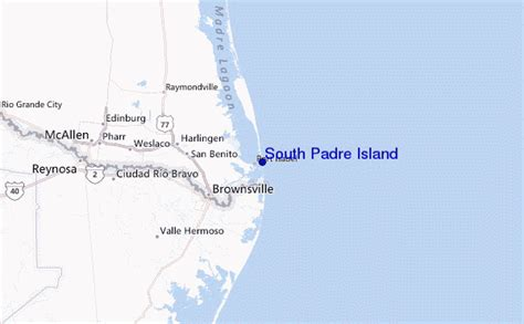 map south padre island south padre island surf forecast and surf reports usa