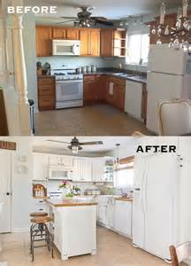 cheap kitchen makeover ideas before and after pretty before and after kitchen makeovers noted list