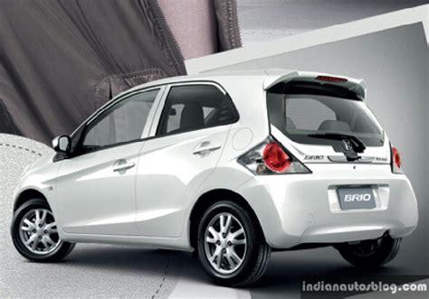 brio new new honda brio facelift white rear indian autos blog