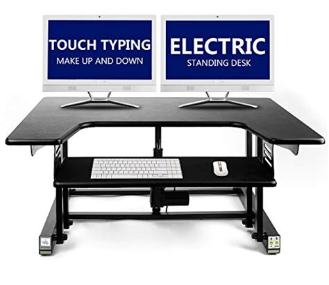 stand up or sit down computer desk electric standing desk touch typing up down height