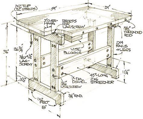workbench plans  woodworkers   wear