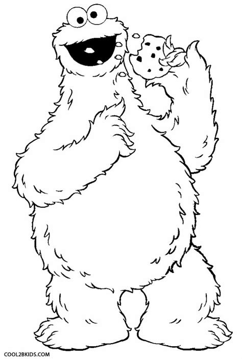 free coloring pages of cookie monster