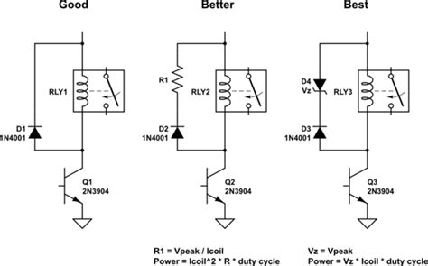 diode relay wiring diagram semiconductors flyback diodes and relays electrical engineering stack exchange