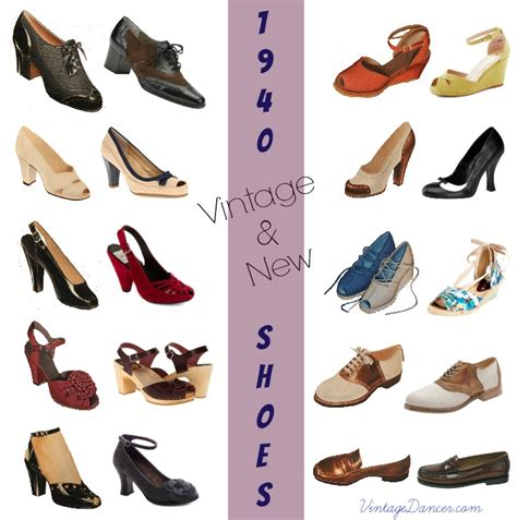 10 popular 1940s shoes styles for
