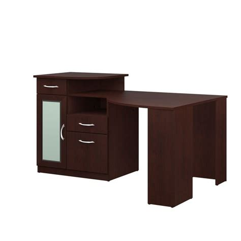 Corner Computer Desk by Bush Vantage Corner Home Office Harvest Cherry Computer