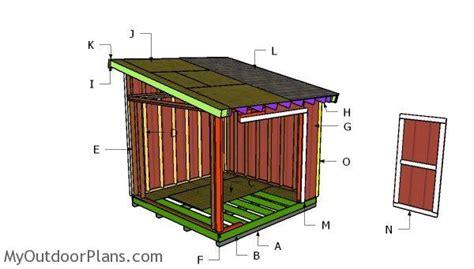 lean  roof plans myoutdoorplans