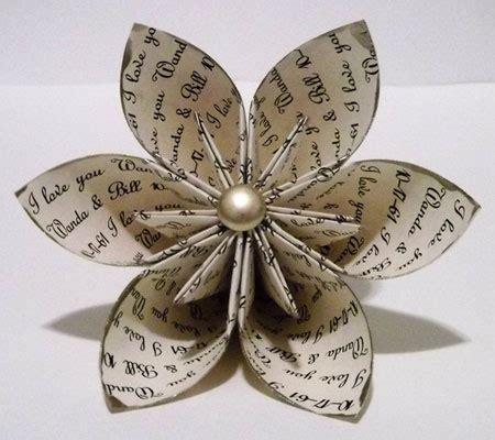 Origami Anniversary - personalized anniversary i you paper flower custom