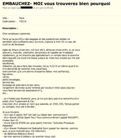 Exemple De Lettre Humoristique Cv Humoristique Le Dif En Questions