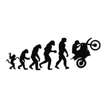 adesivo a evolução do macaco moto motocross r$ 5,10 em