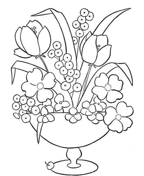 vasi con fiori da colorare immagini da colorare vasi di fiori 4
