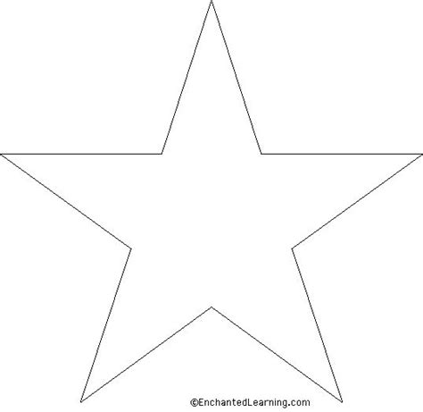 large star template embroidery stencils colouring pages