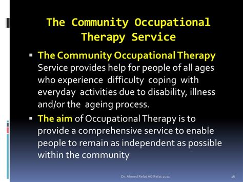 community therapy community occupational therapy