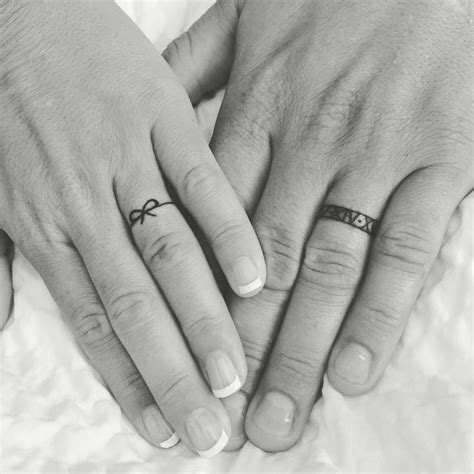 ring tattoos for couples pictures 25 best ideas about husband tattoos on