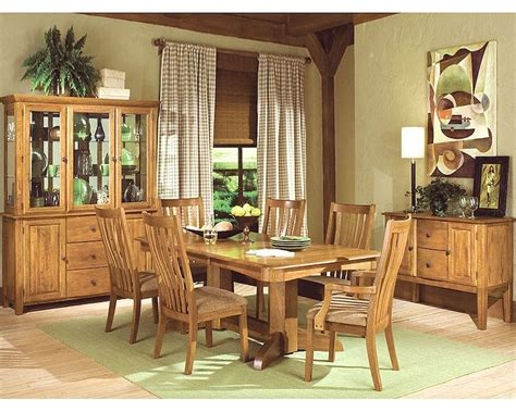 solid oak dining room set intercon solid oak dining set highland park inhp4296set