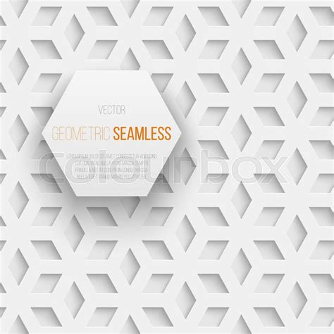 Origami Seamless Cube - abstract white seamless geometric cube pattern with shadow