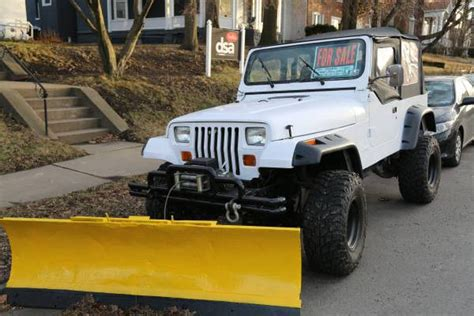 jeep wrangler plow 1995 jeep wrangler yj with lift kit plow and class 3 hitch