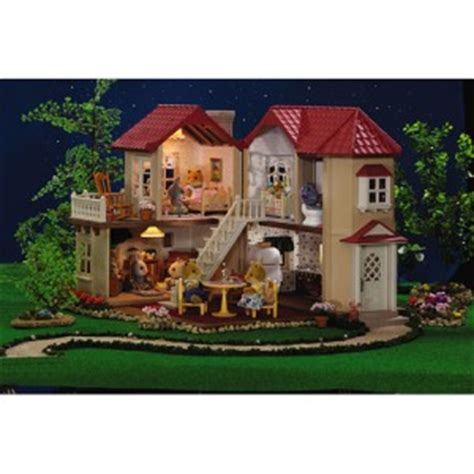 calico critters doll house calico critters figures luxury townhome mini doll house w