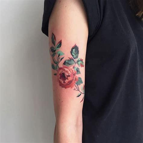 flora tattoo care reviews dainty watercolor floral tattoos by amanda wachob tattoodo