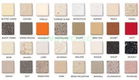 Corian Color Chart Corian Countertop Color Chart Pictures To Pin On