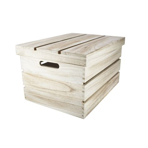 small crates small rustic wooden storage crates chests w lids h16cm blendboutique