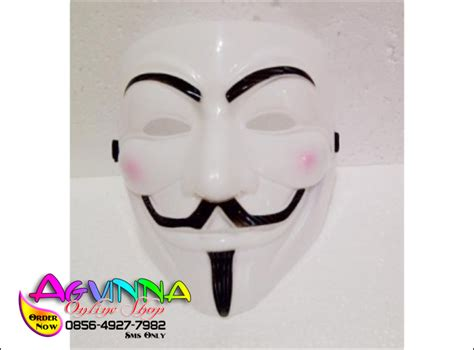 Topeng Anonymous Berkualitas distributor besar jual topeng anonymous cool white