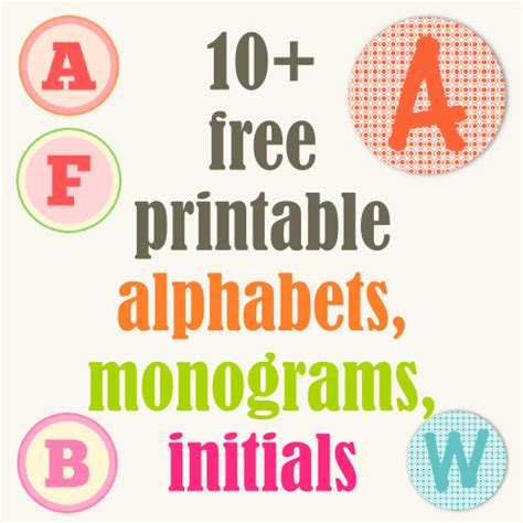 free printable lettering round up of free alphabet printables letters monograms