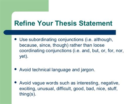 creating a strong thesis creating strong thesis statements