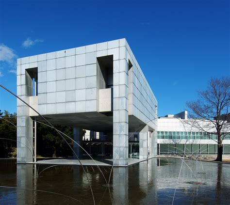 modern house designed as an art museum in tokyo japan ad classics museum of modern art gunma arata isozaki
