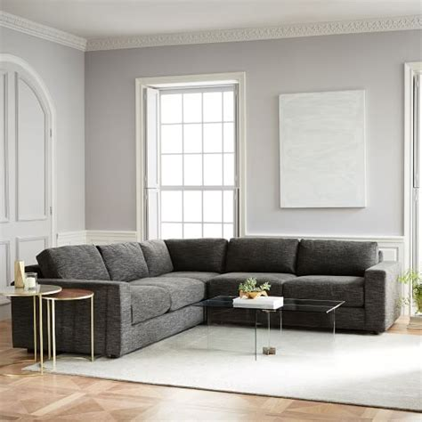 west elm urban sofa review urban 3 piece sectional west elm