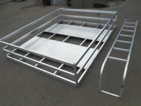 custom made alum hay racks ladder to fit your trailers