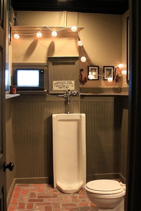 man cave bathroom man cave bathroom gotta have the urinal cool man caves