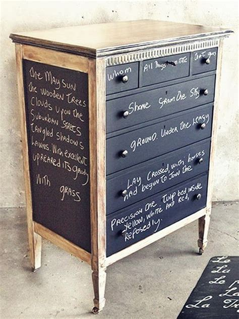 chalkboard paint on furniture chalkboard paint furniture home
