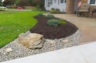 rock and mulch landscape ideas va rock and