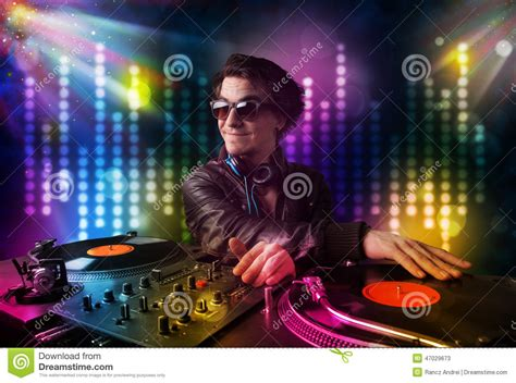songs for light shows dj songs in a disco with light show royalty free