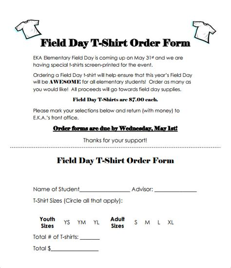 Field Day Flyer Template Free