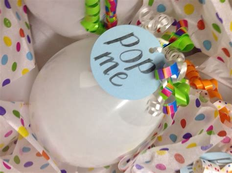 pop me quot pop me quot tags with colorful ribbon adorn each balloon