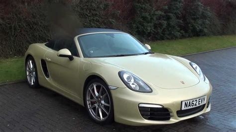 gold porsche boxster our porsche 981 brand new boxster in gold youtube