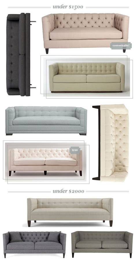 affordable tufted sofa 25 best ideas about tufted sofa on tufted