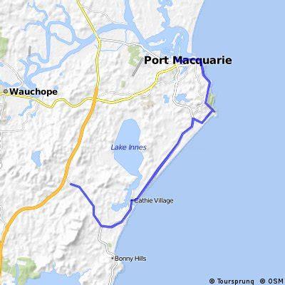 cycling routes  bike maps    port macquarie bikemap  bike routes