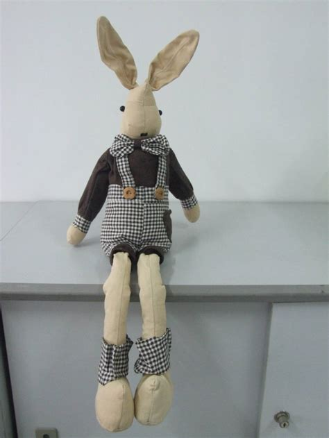 Handmade Rabbit - cloth bunny boy handmade rabbit doll with cotton linen