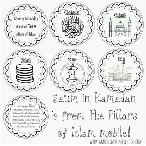 5 Pillars Of Islam Sheet Coloring Pages