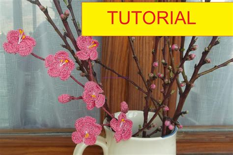 tutorial fiori all uncinetto tutorial per realizzare un ramo di fiori di pesco all
